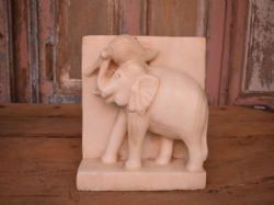 Antique Marble Elephant Panel <b>SOLD<b>
